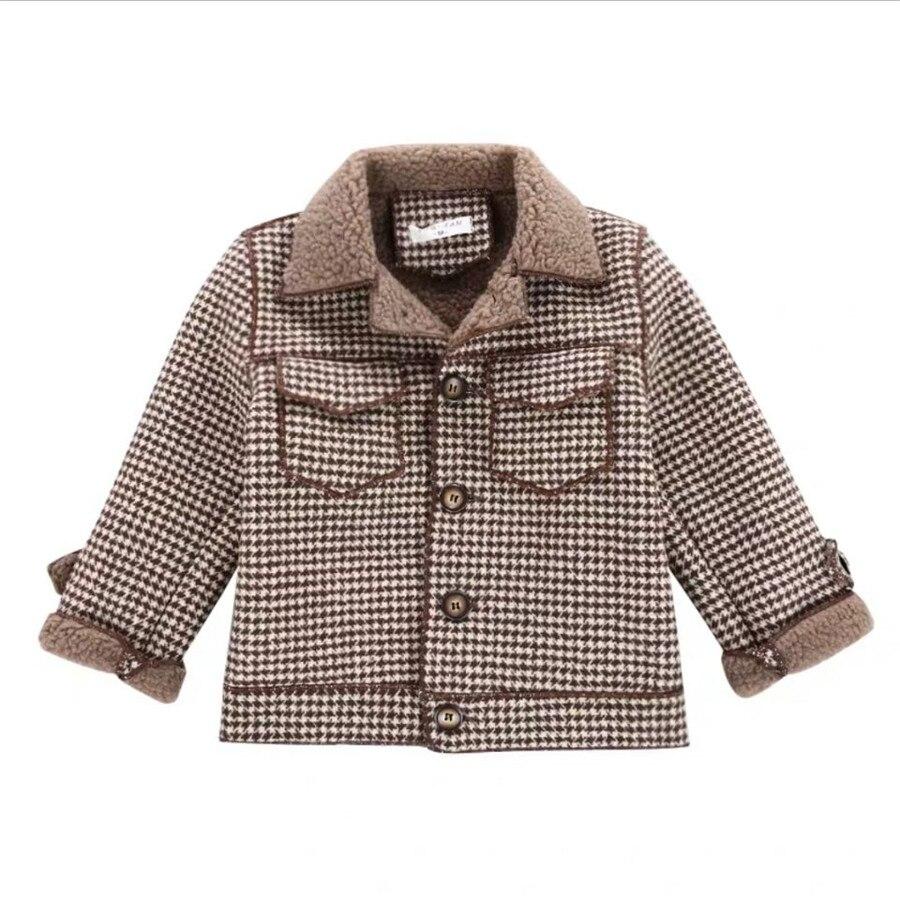 2020 высокое качество, дети, пальто Шерстяное пальто для мальчиков; Модная осенне-зимняя куртка для мальчика в клетку, теплое детское зимнее пальто От 2 до 10 лет-5