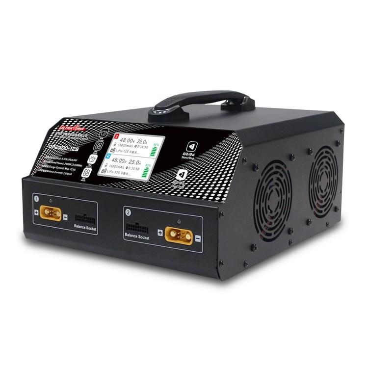Ultra UP2400 12S 2X1200W 25A 6-12S LiPo/LiHV batería UAV cargador para Dron