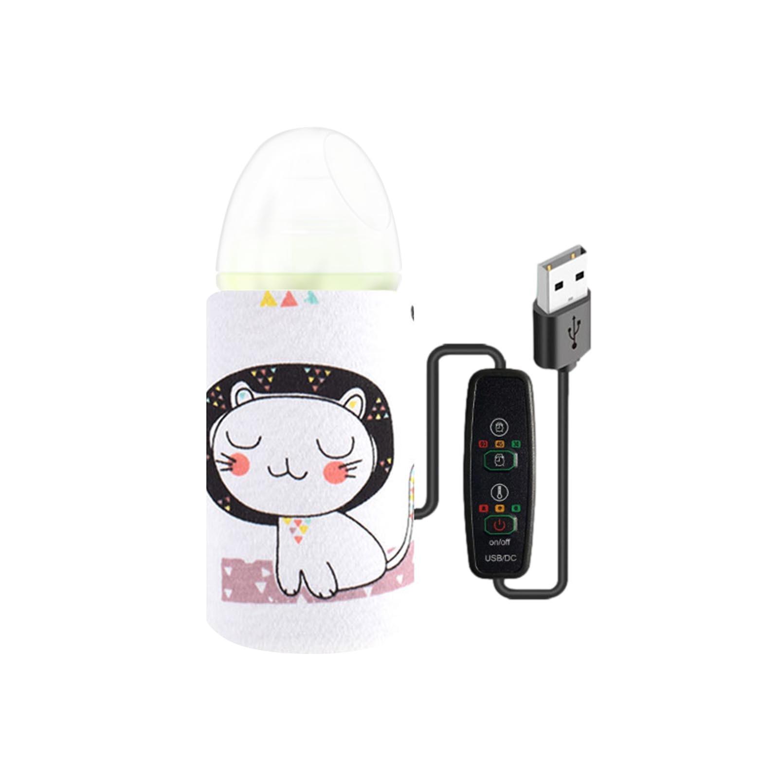 USB-подогреватель для бутылок 40C-55 C, портативный подогреватель для детских бутылок с молоком, многоразовый подогреваемый чехол с постоянным ...