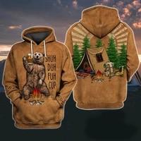 plstar cosmos shuh duh fuh cup bear campfire camping 3d all over printed shirt hoodie men women hooded sweatshirt