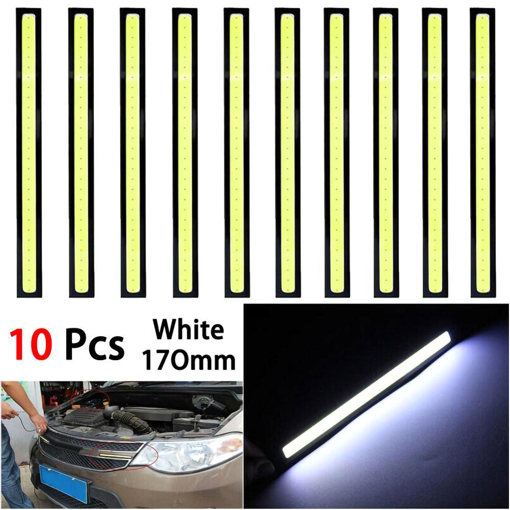 1/10PCS Universal Waterproof Daytime Running lights COB Fog Lamp Car Styling Led Day light DRL Lamp 17cm