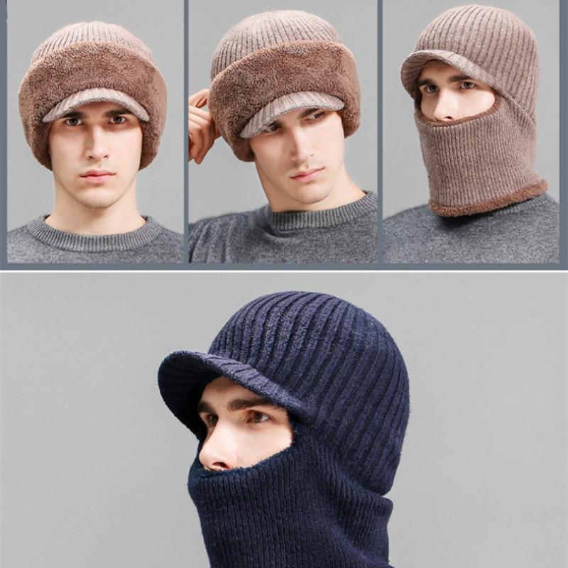 Новинка, вязаная шапка, шарф, зимние шапочки, облегающие шапки, женские зимние шапки для женщин, мужчин, мешковатое кольцо, теплая плотная мо...