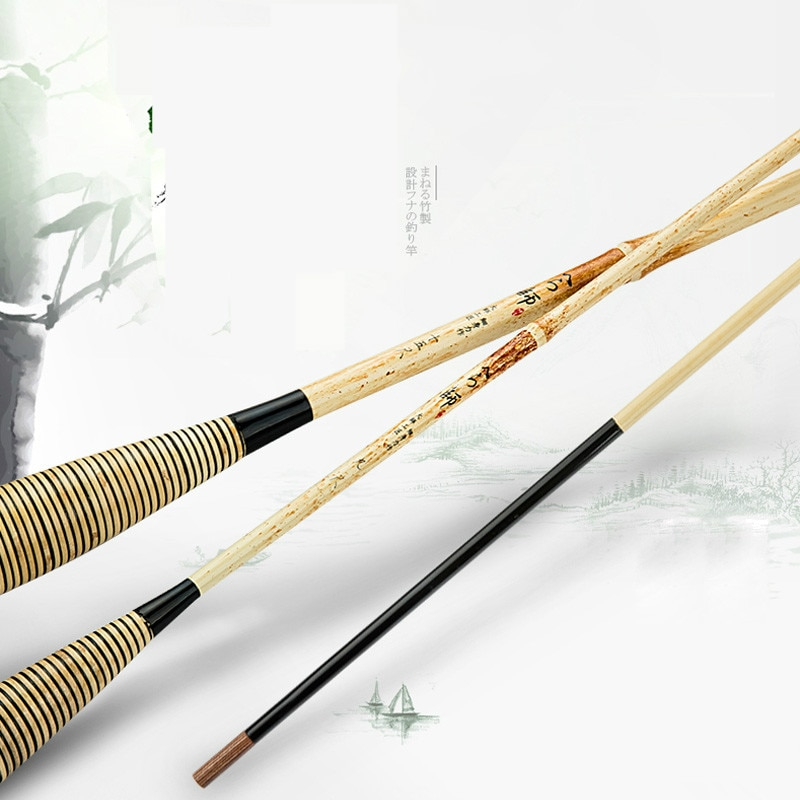 2.7m-5.4m Taiwan Fishing Rod 60T High Carbon Fiber Telescopic Wedkarstwo Olta Black Pit Hand Pole Fishing Sticks Vara De Pesca enlarge