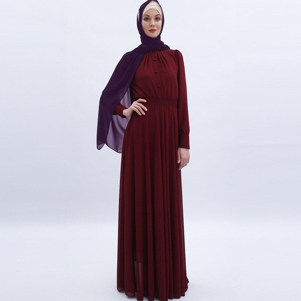 فستان مسلم شيفون حرير ، أزياء إسلامية ، للنساء المسلمات ، عباية ، دبي ، تركيا