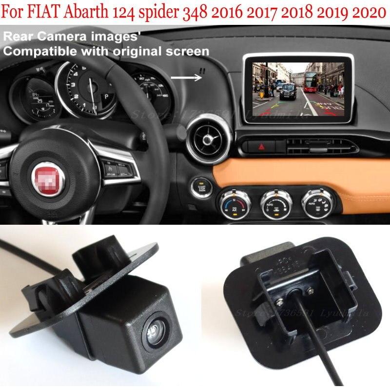 Cable adaptador para FIAT Abarth 124 spider 348 2016 2017 2018 2019 2020 28 Pines, pantalla Original Compatible con cámara retrovisora de 6V