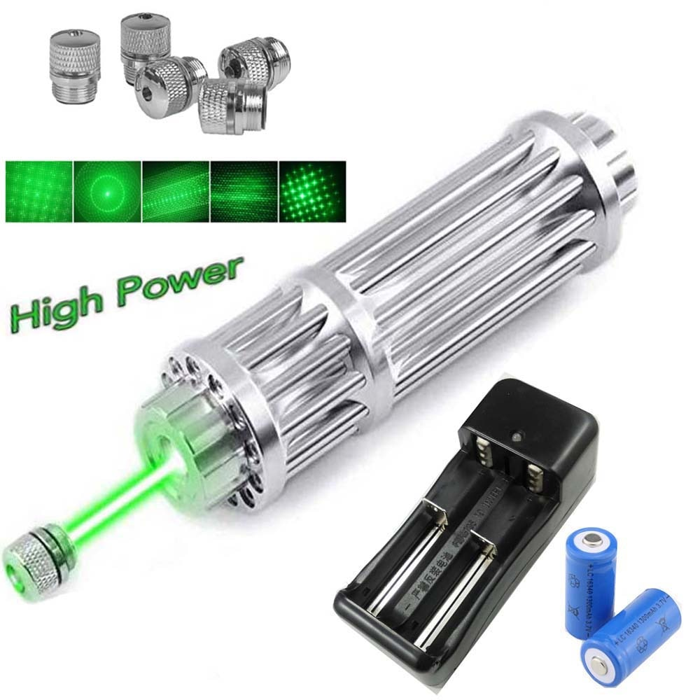 Высокая Мощность фонарь фокус высокой Мощность зеленая лазерная указка 10000 м 5 мВт Регулируемый лазерный фокус лазер ручка Комбинации