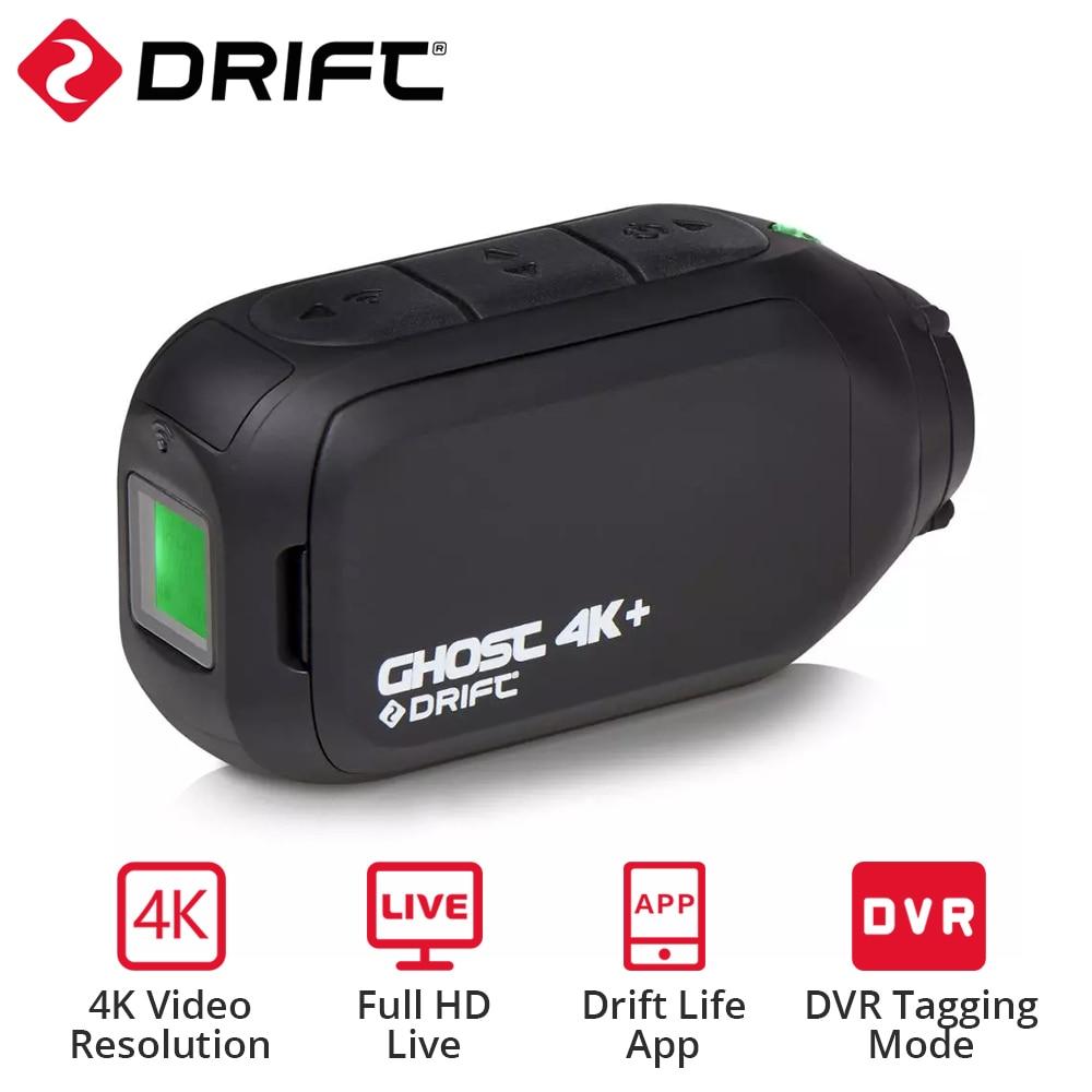 Экшн-камера Drift Ghost 4k + Plus HD, нательная Спортивная камера для шлема, мотоцикла, велосипеда, с Wi-Fi управлением через приложение, аккумулятор 1950 м...