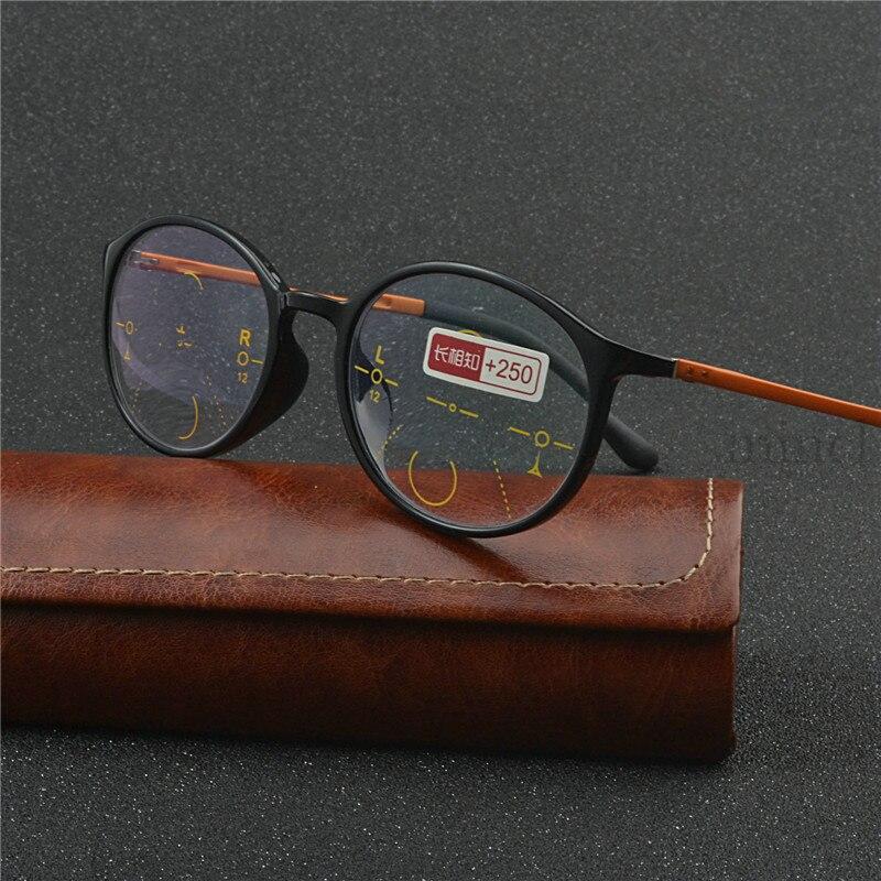 Gafas de sol Retro con montura redonda y multifocales progresivos para hombre y mujer, gafas de lectura fotocromáticas para exteriores Uv400 NX