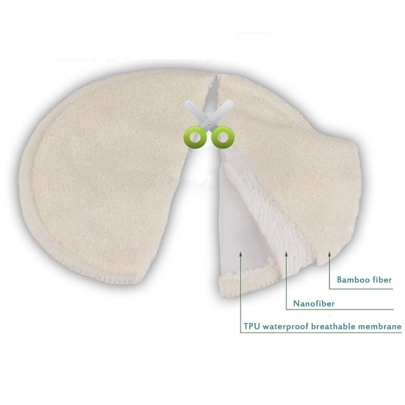 Soft Bamboo Reusable Nursing Breast Pads Breastfeeding Absorbent Waterproof Stay Dry Cloth Pad Breastfeeding Accessory