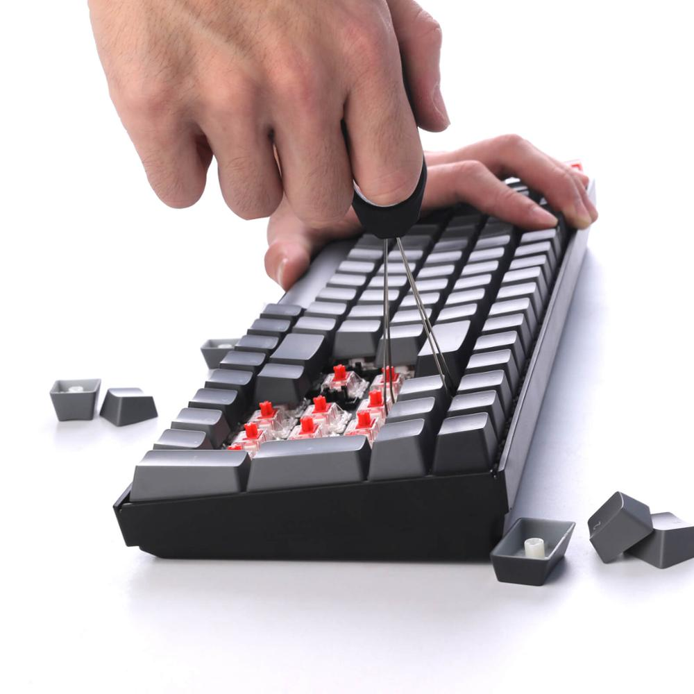 Keychron K4 G V2 Bluetooth Wireless Mechanical Keyboard w/ White Backlight Hot-Swappable Switch Wired USB Gaming Keyboard