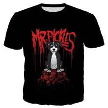 Nouveau t-shirt cool hommes/femmes Mr Pickles 3D imprimé à manches courtes t-shirts Harajuku style t-shirt haut
