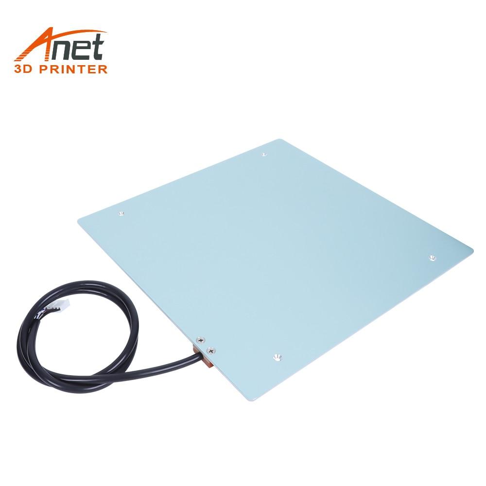 Anet الألومنيوم MK3 300*300*3 مللي متر 12 فولت الساخن السرير Heatbed منصة الطباعة الجدول ل Anet طابعة ثلاثية الأبعاد Anet ET5 جديد وصول