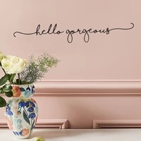 simple english slogan bedroom living room porch wall landscaping decorative wall stickers