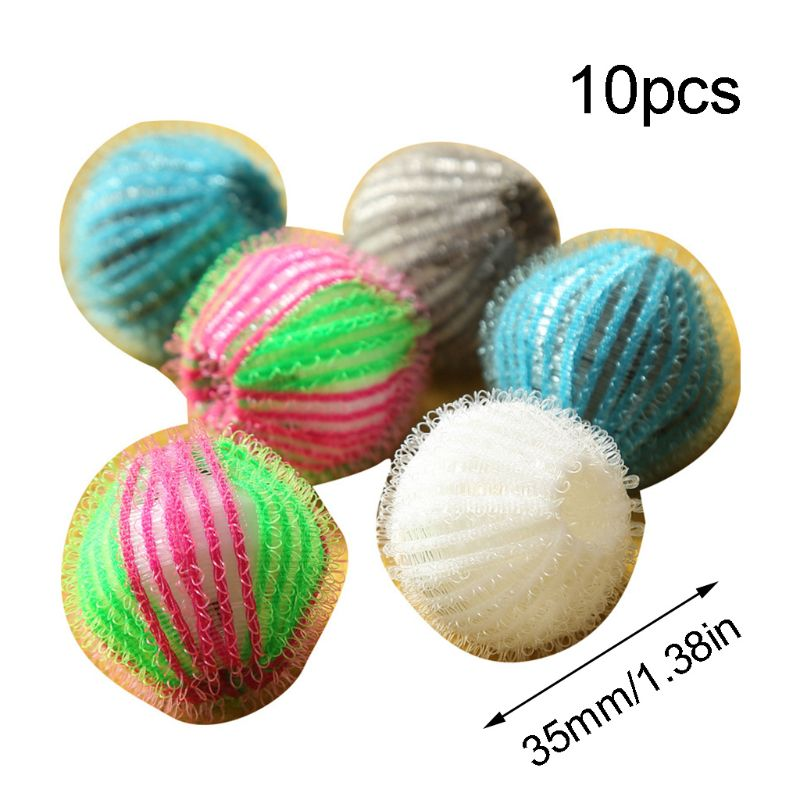 10pcs Magic Pet Hair Removal Laundry Ball Grabbing Lint Fluff Cleaning Remover  washing protection s