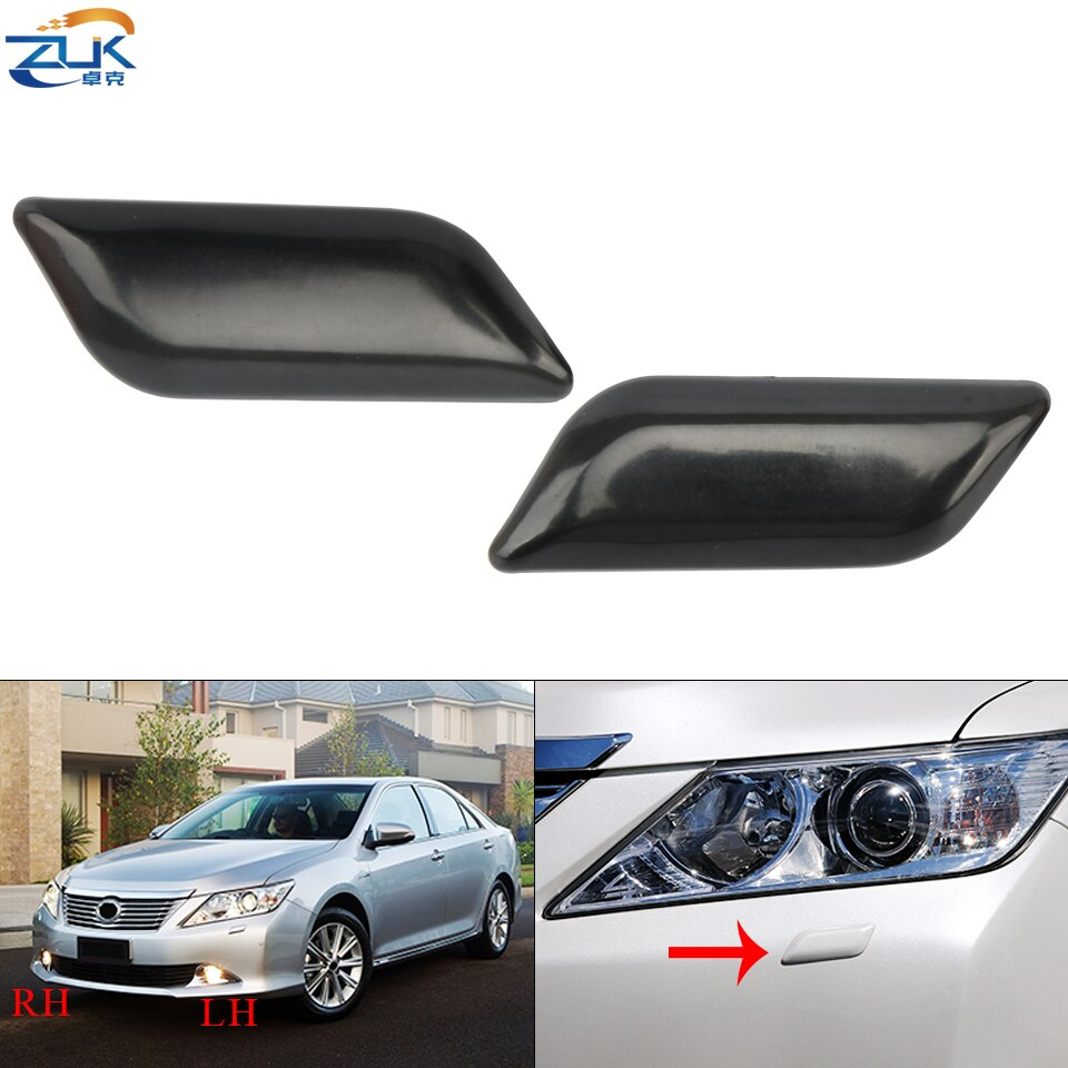 ZUK Front Bumper Headlight Headlamp Washer Nozzle Cover Cap Housing For TOYOTA CAMRY AURION 2012 2013 2014 None Painted