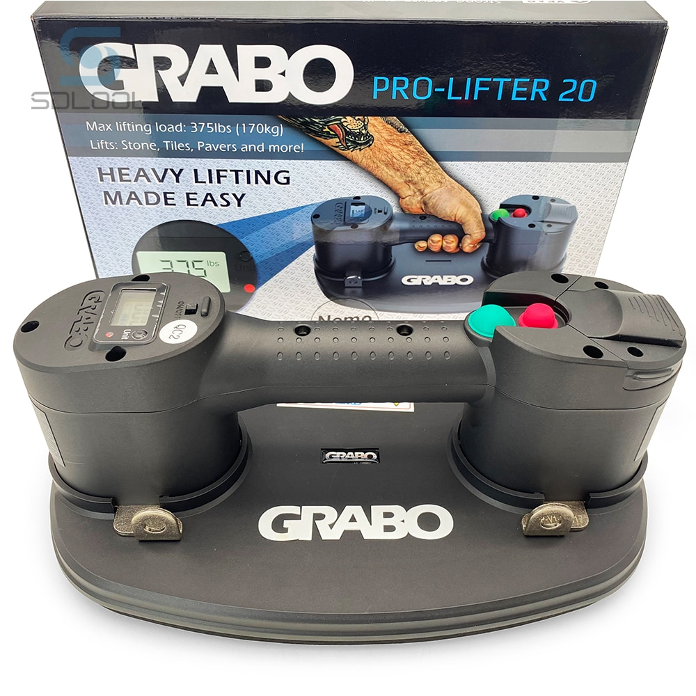 Grabo Pro Electric Vacuum Suction Cup Lifter With Digital Display Auto Leak Protection Grabo Lifter for Glass Wood Marble enlarge