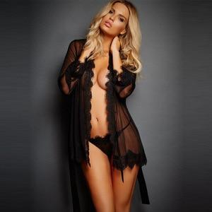Сексуальное женское нижнее белье, Эротическая Пижама, кружевное нижнее белье, эротическое Прозрачное платье, черное сексуальное нижнее бел...