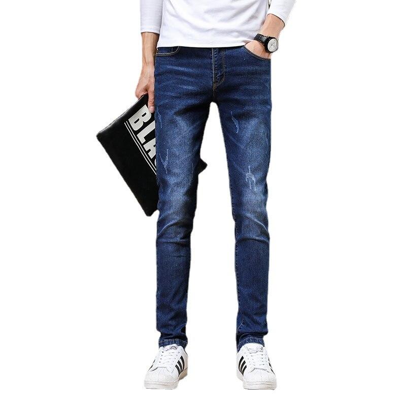 Мужские джинсы, мужские джинсы, мужские брюки, корейские джинсы, брюки, джинсовые брюки, джинсовые брюки, мужские синие модные повседневные ...