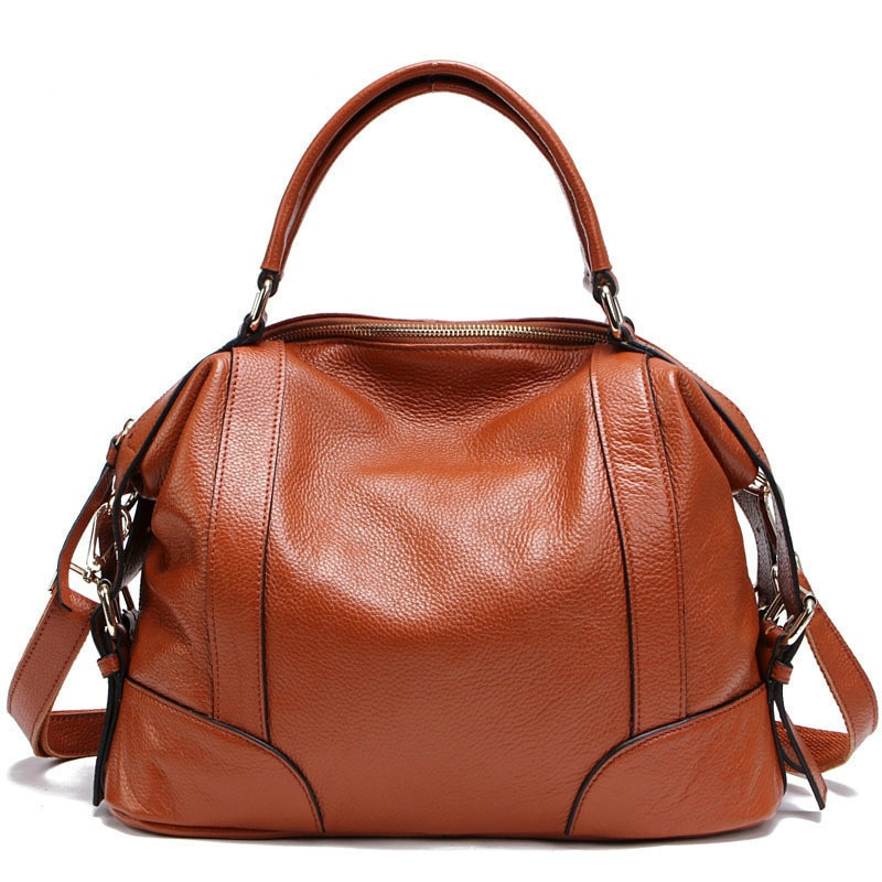 100% Top Genuine Leather Women's Messenger Bags First Layer Of Cowhide Crossbody Bags Female Designer Shoulder Tote Bag