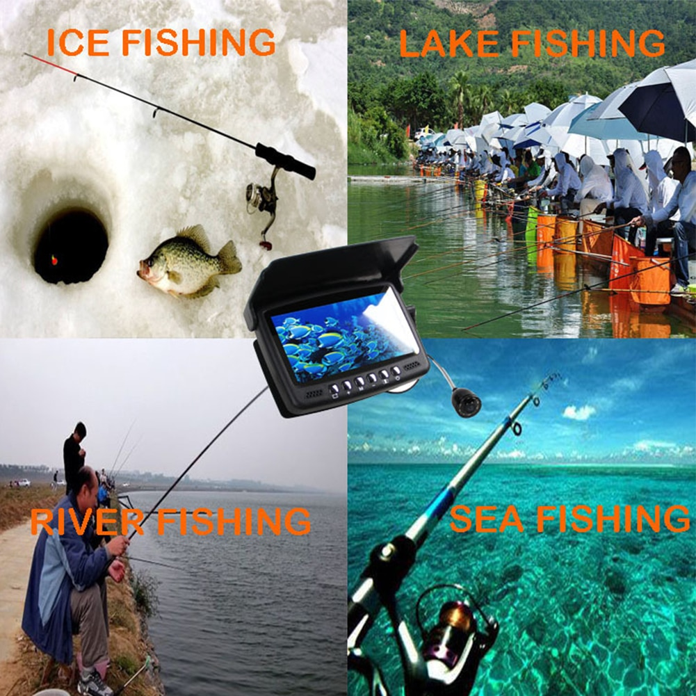 4.3 Inch Underwater Fishing Camera DVR Underwater Fish Finder Infrared Night Vision Portable Fishing Video Camera LCD Monitor enlarge
