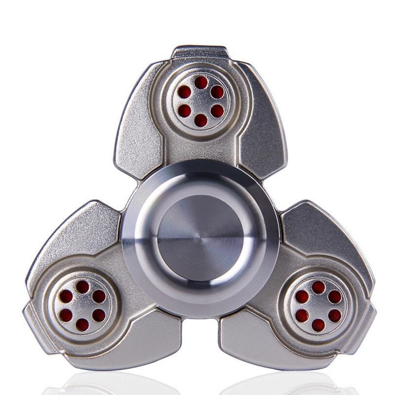 Finger Metal Triangle EDC Gyro Wind Fidget Hand Spinner CKF Captain for Anti-Anxiety Stress Relieve Adult Toy Gift Fast Spearing enlarge