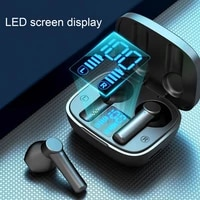 tws lb8 bluetooth headset semi in ear touch control abs music phone call earphone for sports