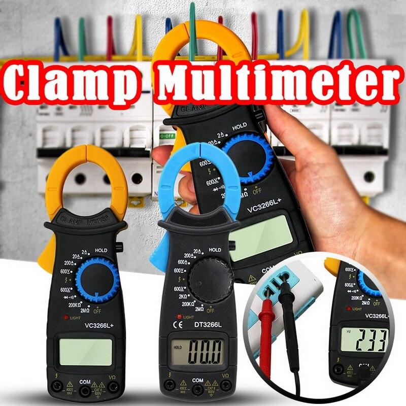 Eléctrico multímetro de la abrazadera de FireWire identificar voltímetro amperímetro ohmímetro AC DC Digital abrazadera de corriente voltímetro amperímetro de