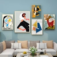 Peinture dart mural  litterature nordique moderne et mode  personnalite abstraite  combinaison de personnages  decoration de la maison