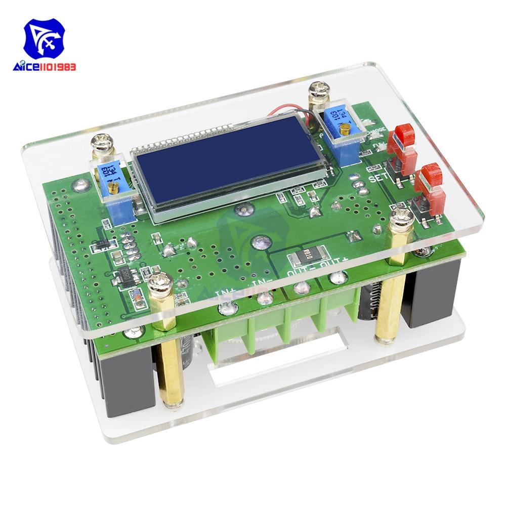diymore CC CV DC-DC 10-60V to 10-32V 10A Step Down Buck Converter Power Supply Module Adjustable Potentiometer LCD Digit w/ Case