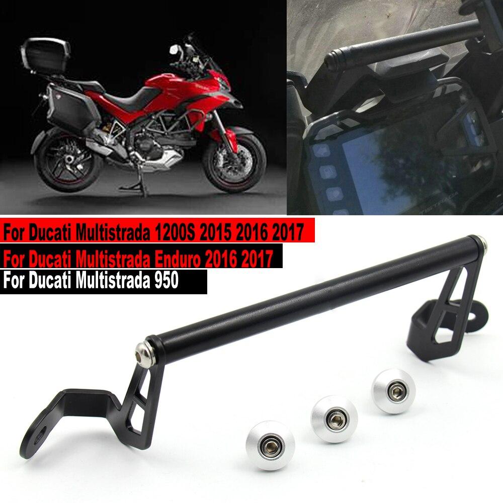 MTImport-support de montage de la Navigation   Pour téléphone intelligent GPS, support dadaptateur pour Ducati Multistrada 950 1200S 1200 Enduro 2015-2017