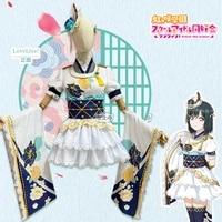 anime lovelive school idol project mifune shioriko lovely kimono uniform cosplay costume halloween women free shipping 2020new