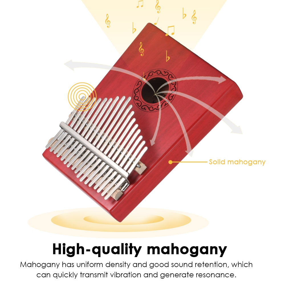 17 Tones Thumb Piano Kalimba 17 Key Mahogany Thumb Piano Mbira Musical Instrument Africa Finger Piano Instrumento Musical enlarge