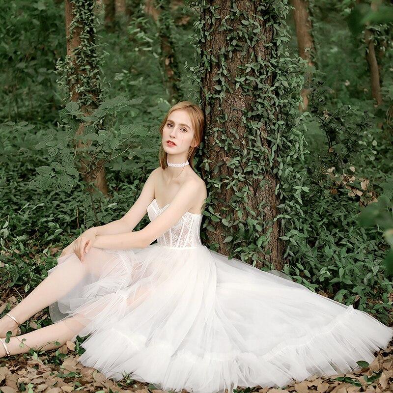 Женское кружевное платье FENTEFEN, белое свадебное платье высокого качества, модель 2020 года, DF-0005