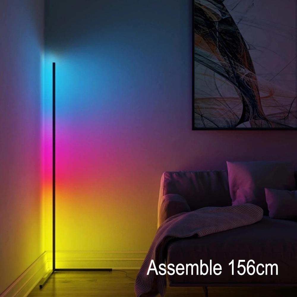 Modern Corner Floor Lamps Floor Lights Atmosphere Night Light Colourful Light Bedroom Living Room Decoration Night Standing Lamp