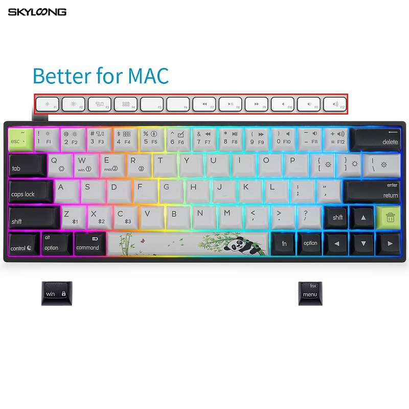 Skyloong الميكانيكية لوحة المفاتيح AK64 السلكية PBT Keycap RGB الخلفية الساخن مبادلة ألعاب لوحة المفاتيح ل ماك/سطح المكتب/كمبيوتر محمول الألعاب الملحقا...