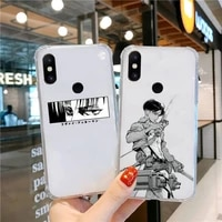 anime attack on titan japanese phone cases transparent for xiaomi redmi note k 7 6 40 9 6 5 10 11 a t se pro lite ultra