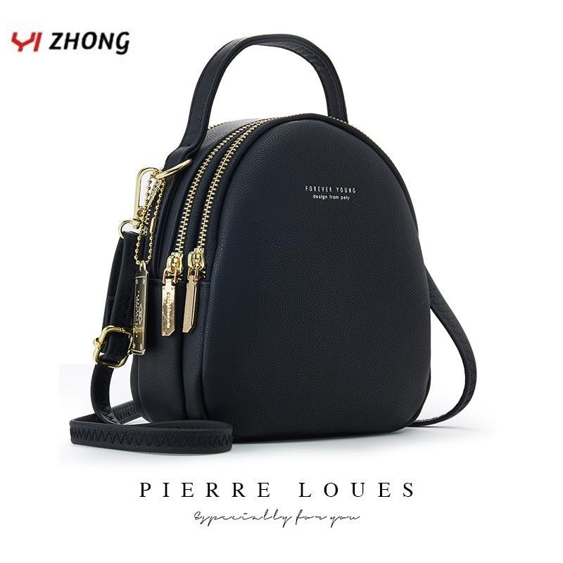 YIZHONG кожаный мини рюкзак, кошелек для женщин, женская сумка для книг, многофункциональная роскошная сумка через плечо, сумки-мессенджеры, ...
