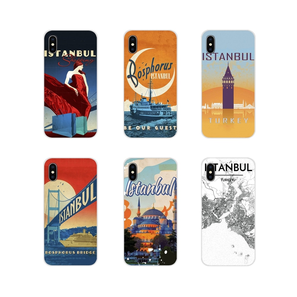 Turkey Istanbul travel poster Accessories Shell Covers For Apple iPhone X XR XS 11Pro MAX 4S 5S 5C SE 6S 7 8 Plus ipod touch 5 6