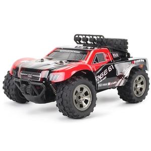 Children's Remote Control Car High-Speed Bigfoot Off-Road Vehicle 2.4G Short Pickup Truck Climbing Remote Control Car USB