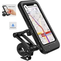 adjustable waterproof bicycle phone holder 6 7inch motorcycle mobile cellphone gps holder mount 360%c2%b0 rotatable anti shake stable