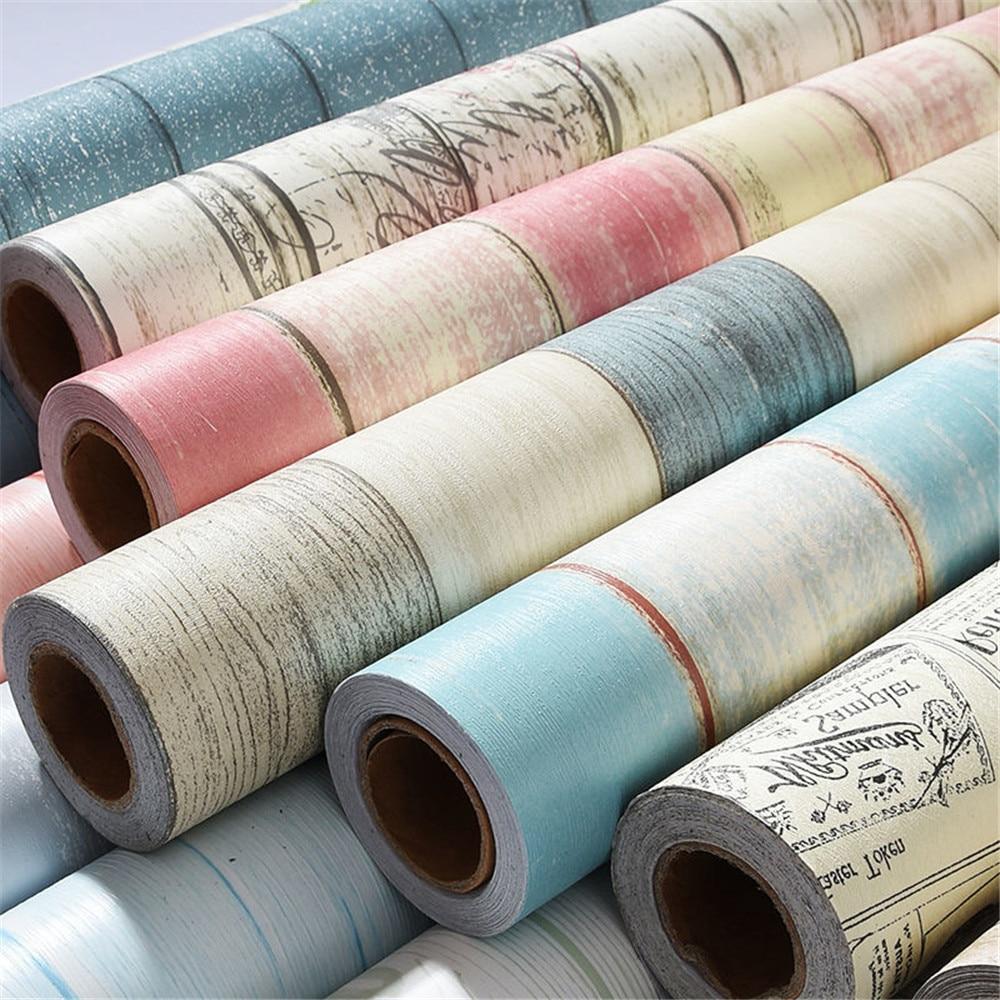 Самоклеящаяся настенная бумага, водонепроницаемая виниловая контактная бумага, деревянная настенная бумага для спальни, мебель, товары дл...