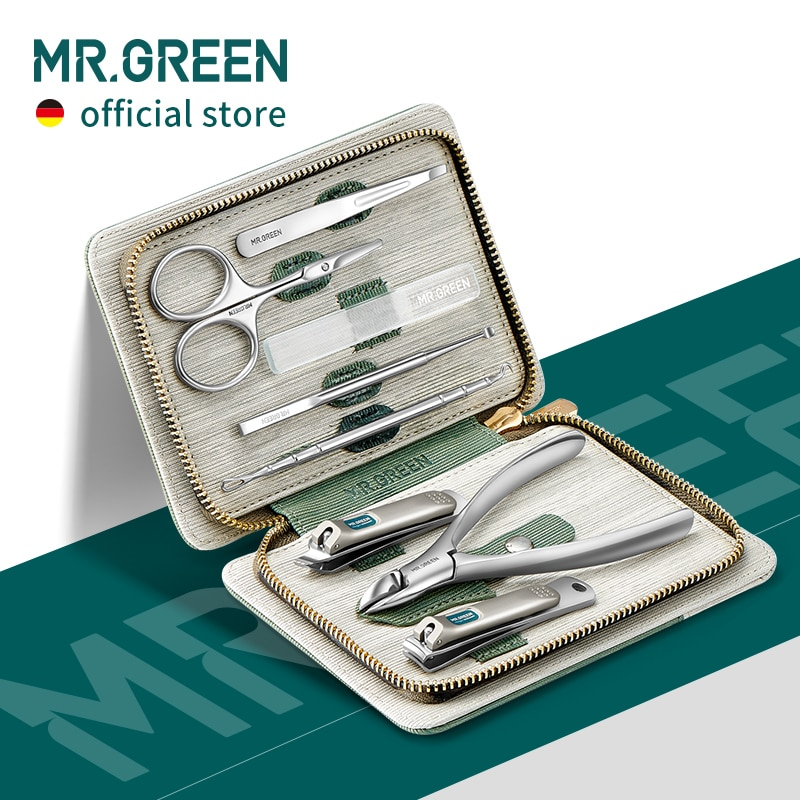 aliexpress - MR.GREEN Manicure Set Pedicure Sets Nail Clipper Stainless Steel Professional Nail Cutter Tools with Travel Case Kit