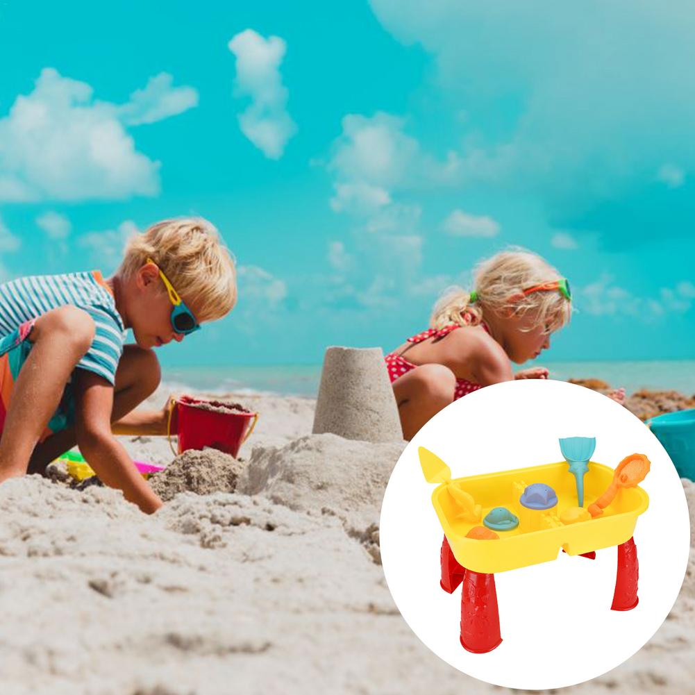 kids sand Beach Sand Toys Set Kids Water Sand Play Table with Accessories Children Tool Set Summer Sand Play Sand Water Game