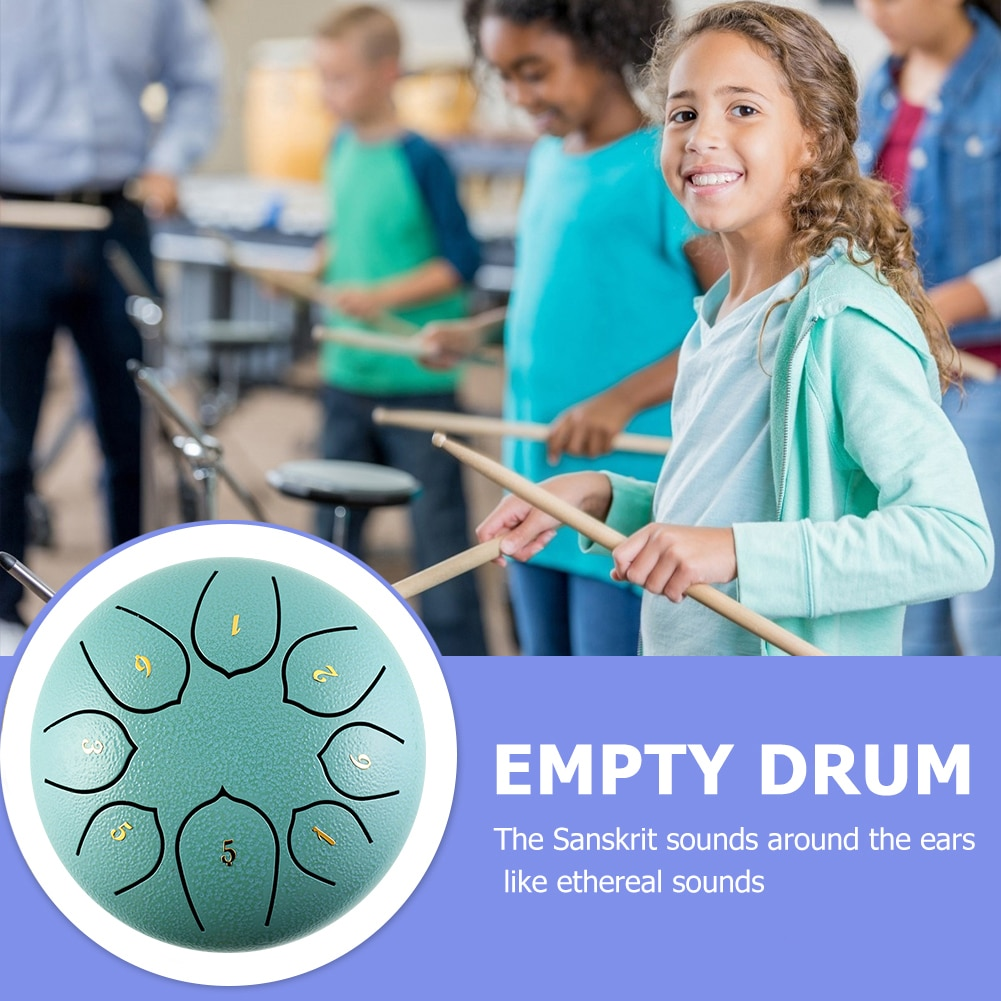 Tongue Drum 6 Inch Steel Tongue Drum Set 8 Tune Hand Pan Drum Tank Sticks Carrying Bag Percussion Instruments Accessories enlarge