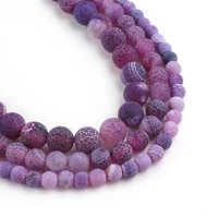 natural stone beads round weathered agate bead for making jewelry 6 8 10mm