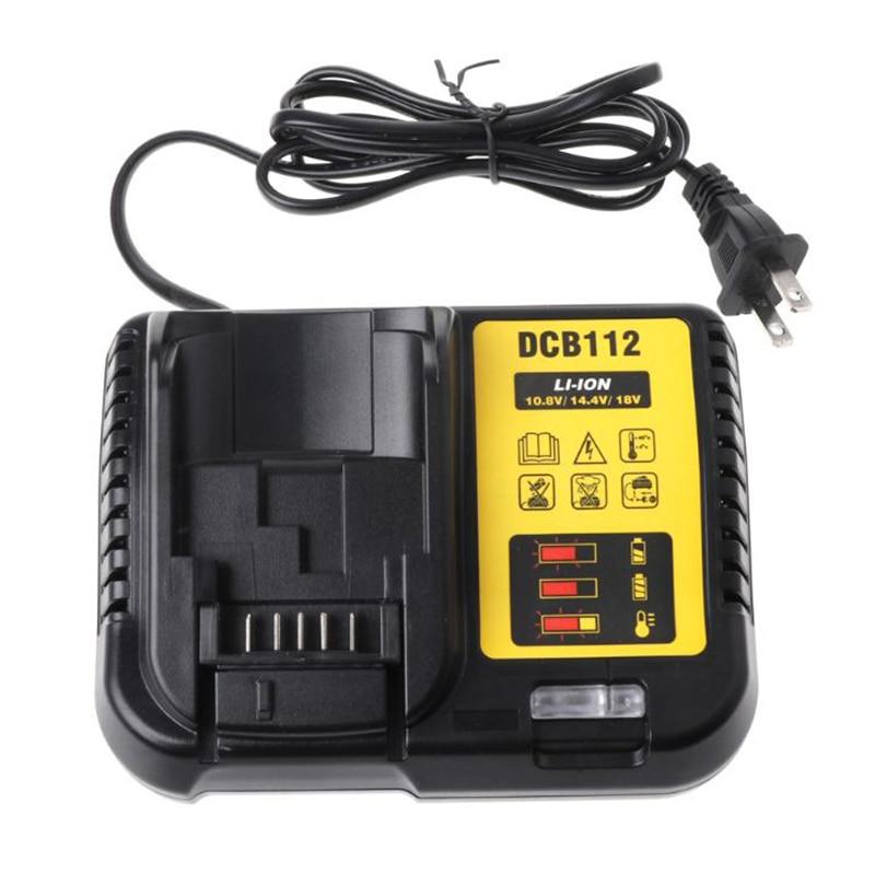 Dcb112 cargador de batería Li-Ion para Dewalt 10,8 V 12V 12V 14,4 V 18V Dcb101 Dcb200 Dcb140 Dcb105 Dcb200 negro cargador de batería de litio