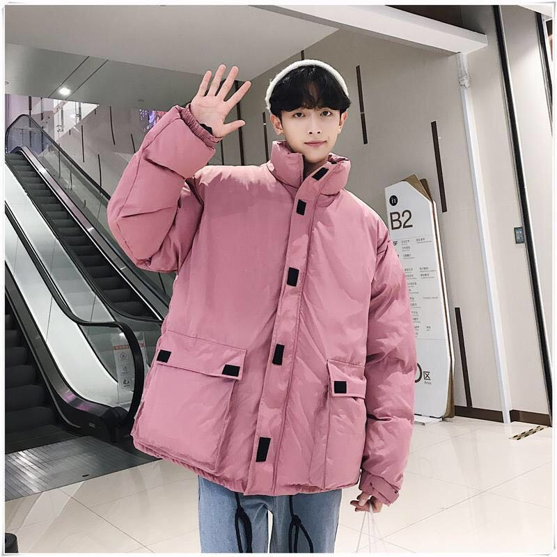 2021 New Winter Cotton Jacket Men And Women Warm Jacket Long Black Cotton Padded Casual Bread Clothing Lovers Cotton Coat