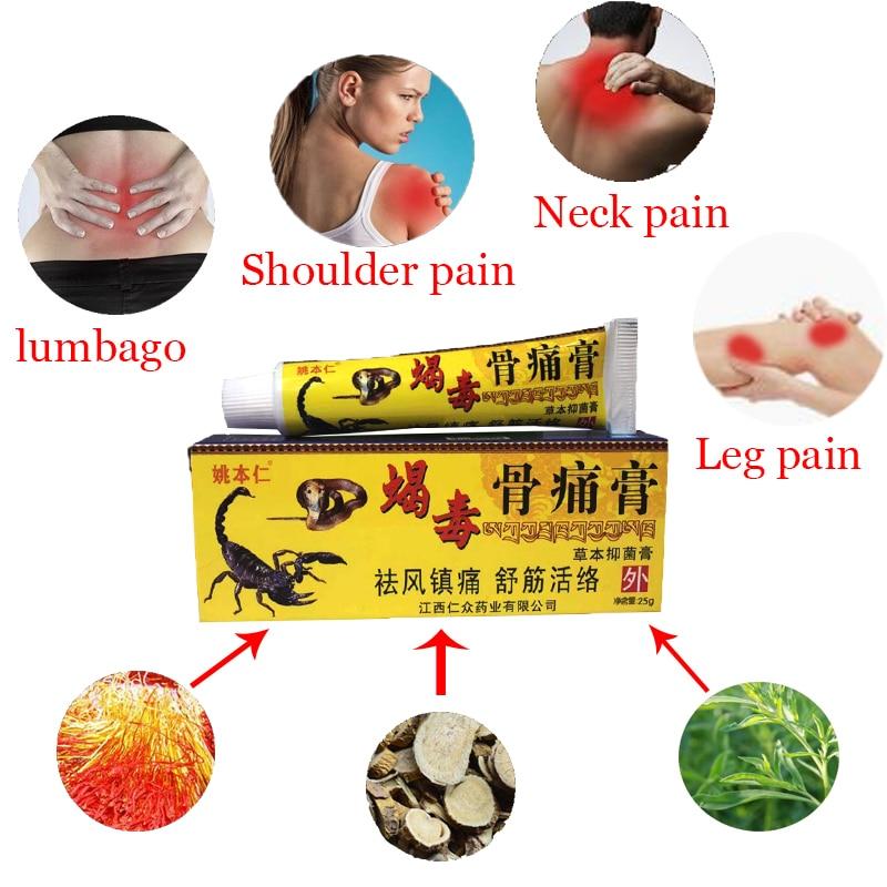 ZB 25 г крем для снятия боли в суставах колена китайский экстракт Яда скорпиона пластырь для ревматоидного артрита обезболивающая мазь