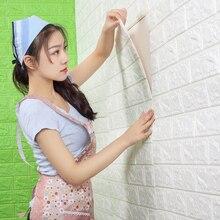 Papier peint auto-adhésif imperméable anti-collision brique papier peint 3d stéréo stickers muraux chambre denfants salon autocollants