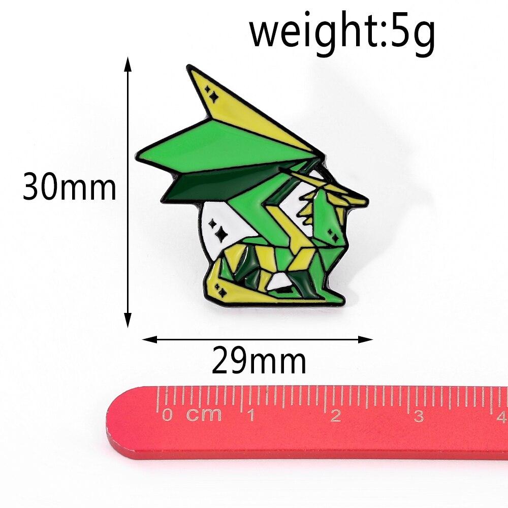 Игровая серия Спайро Дракон эмалевая булавка оригами блестящая металлическая брошь значок подарки для геймеров
